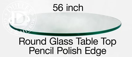 TroySys Tempered Glass Table Top, 3/8 Inch Thick, Pencil Polish Edge, Round, 56'' L by TroySys (Image #6)