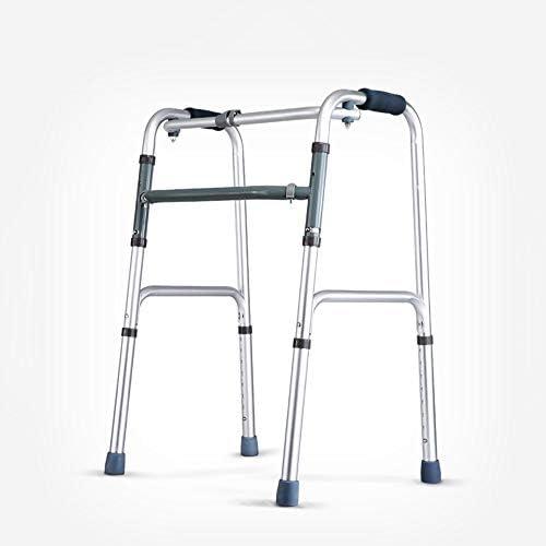90GJ Tragbare, Faltbare Gehhilfe für behinderte, höhenverstellbare Produkte für die Rehabilitation älterer Menschen aus Aluminium, leichte medizinische Instrumente für das aufrechte Knie