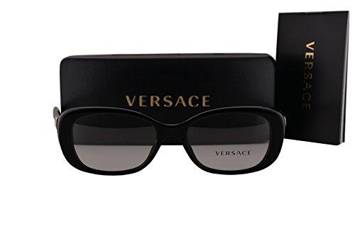 Versace VE3234B Eyeglasses 51-16-140 Shiny Black w/Demo Clear Lens GB1 VE - Versace Sunglasses Clear