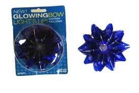 Fiber Optic Led Light Up Glowing Gift Bows
