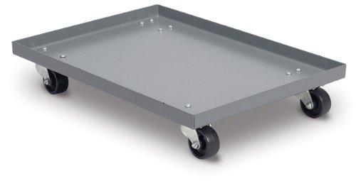 Akro-Mils RU843HR1420 Powder Coated Steel Panel Dolly for 39085, 39120, 39170 or 66486 Attached Lid Containers, (Akro Mills Container)