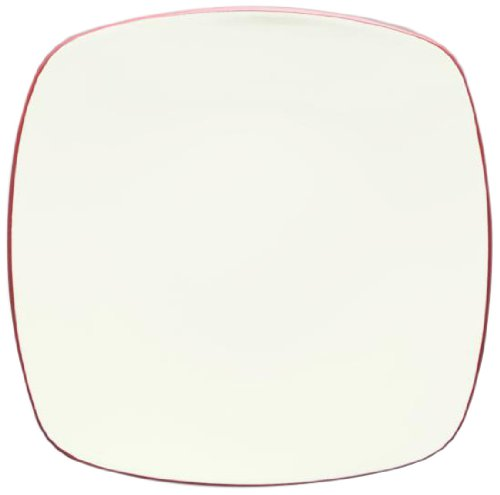 Noritake Colorwave Square Platter, 11-3/4-Inch, Raspberry Pink