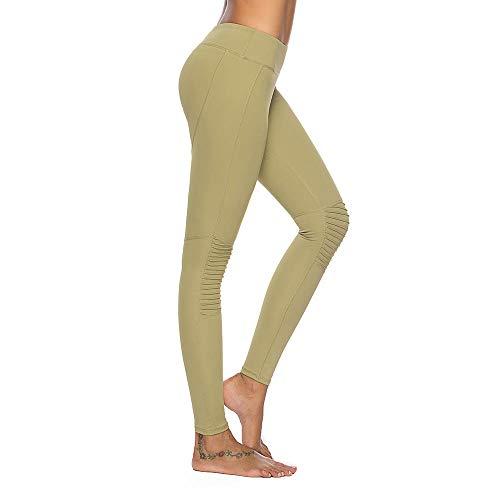 Mint Lilac Women's Training Yoga Pants Athletic Workout Leggings with Lace Trim