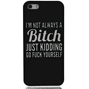 DUR I'm not Bitch Pattern Hard Case for iPhone4/4S