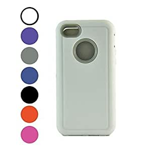 QHY Kinston Triple Robot Style Silicone Full Body Case for iPhone 5C(Assorted Colors) , Black