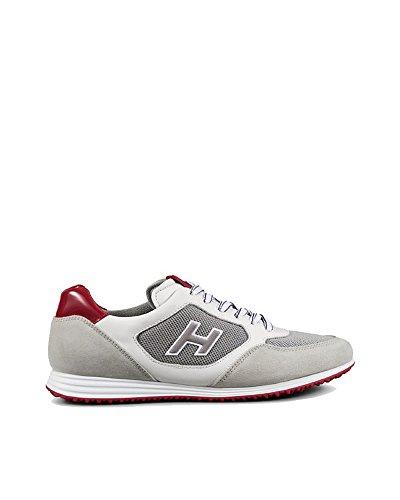 Hogan Mens Hxm2050u670fkb873t Sneakers In Camoscio Bianco
