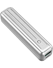 Zendure SuperMini 5K powerbank med 5 000 mAh (robust, liten och kraftfull, 2-port QC 3.0 med 18 W snabbladdningsfunktion för iPhone, iPad, Android, Nintendo Switch, lämpligt för handbagage), silver