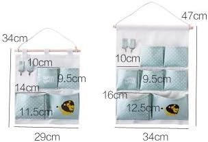 Gruen Mirayen Baumwolle H/ängeaufbewahrung Tasche H/ängeorganizer Wandorganizer H/ängenden Beutel Wandtasche Wand h/ängenden f/ür Kinderzimmer Schlafzimmer