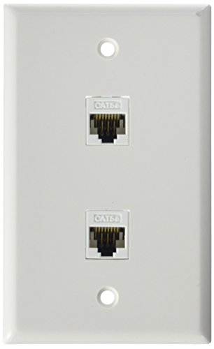 RiteAV Rj11-12 Phone Wall Plate Insert White