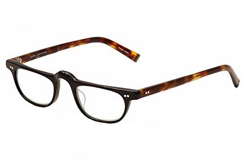 John Varvatos Men's V804 Rectangular Reading Glasses, Black UF, 1.5 from John Varvatos