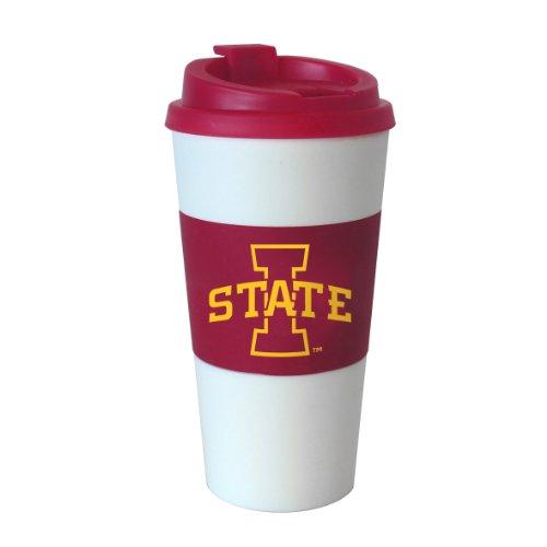 NCAA Iowa State Cyclones Sleeved Travel Tumbler, 16-Ounce (White Chocolate Cyclone)