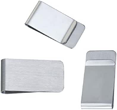 Money Clips 20 Pack, Stainless Steel Blanks for Engraving or Personalize, Bulk Wholesale