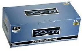 Zen Light King Size Cigarette Tubes (250 ct/box) 5 boxes