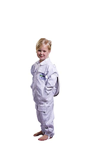 NewBee Children's Beekeeping Protective Cotton Suit w/Domed (Fencing Style) Veil (S)