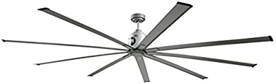 Big Air ICF96UPS-BN Industrial Ceiling Fan, 6-Speed Indoor Metallic Fan, 96-Inch, Brushed Nickel