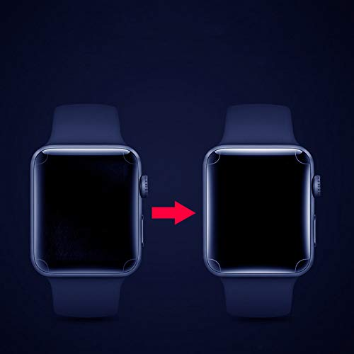 Huangou [ 1 Pack ◆ Smart Watch 3D Hydrogel Protector Film ◆ Clear Full Coverage Hydrogel Transparent Screen Protection Film for Apple Watch 4 40mm (Clear) by Huangou (Image #5)
