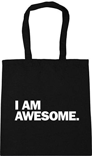 awesome Gym am Black Shopping I Tote Bag HippoWarehouse Beach x38cm 10 42cm litres qXCwax1