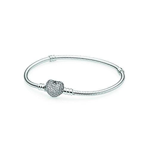 Style Pandora Fashion Earrings (Pandora 590727cz-20 Pave Heart Silver Bracelet …)