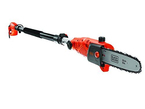 Black-Decker-800W-Hochentaster-25-cm-Schwertlnge-27m-Lnge-11-ms-Kettengeschwindigkeit-schwenkbarer-Kopf-PS7525