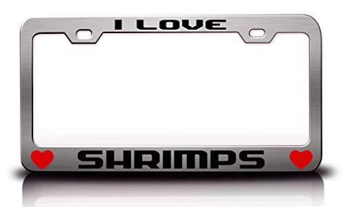 Tag Xpress - I Love SHRIKES Animals Pets Metal License Plate Frame Tag Holder Ch (Shrikes Animals)