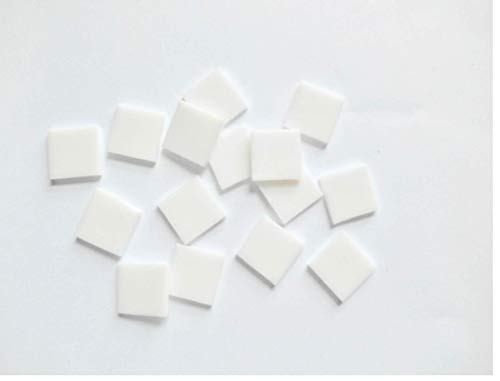 - FortySevenGems 100 Pieces Stained Glass Mosaic Tiles 1/2-Inch White Glass Textured
