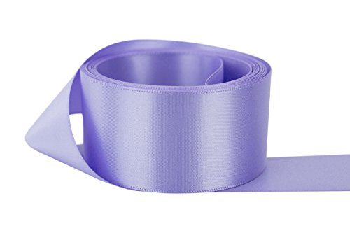 Ribbon Bazaar Double Faced Satin 1-1/2 inch Iris 50 yards 100% Polyester Ribbon