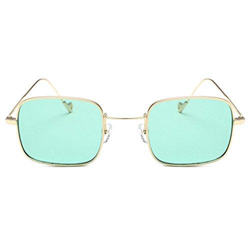 ont des E Shades intégrés femmes Lunettes Quadrate Les UV colorés Malloom verres de coloré soleil TTUqXg