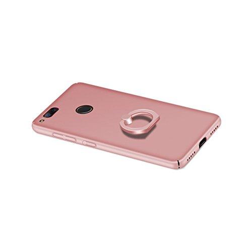 Nubia Z7 mini Funda,color sólido,estilo sencillo,Alta Calidad Ultra Slim Anti-Rasguño y Resistente Huellas Dactilares Totalmente Protectora Caso de Plástico Duro Cover Case+stand holder(RG15) A