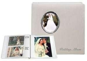 (Silver Wedding Album Post-Bound pocket album for 5x7 8x10 prints w/scrapbook pages by Pioneer -)