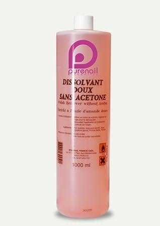 Quita esmalte suave sin acetona en 1000 ml para unas falsas, gel UV y esmalte permanente: Amazon.es: Oficina y papelería