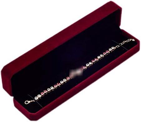 Encantadora Pulsera Joyas Caja de Regalo Embalaje Rectángulo Terciopelo Estuche de Transporte Soporte Paquete de Almacenamiento Cajas de exhibición para joyería Rojo Oscuro 220 mm x 52 mm x 40 mm: Amazon.es: Hogar