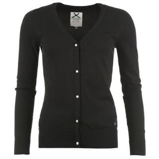 Kangol Button Through Cardigan Ladies Black 16 (XL): Amazon.co.uk ...