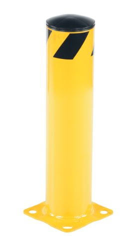Vestil BOL-24-5.5 Yellow Powder Coat Pipe Safety Bollard, Steel, 5-1/2