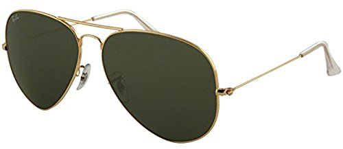 Ray-Ban Aviator Large Metal II RB 3026 Sunglasses Arista / Crystal Green (L2846) 62mm & HDO Cleaning Carekit - 3026 Aviator Ban Ray