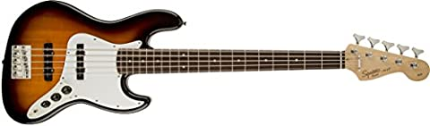 Squier by Fender Affinity Jazz V String Beginner Electric Bass Guitar - Rosewood Fingerboard, Brown (Fender Jazz Bass Five)