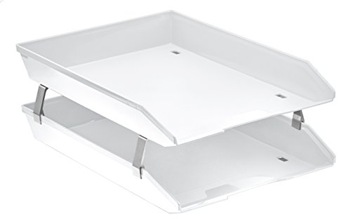 (Acrimet Facility 2 Tiers Double Letter Tray Front Load Design (White Color))