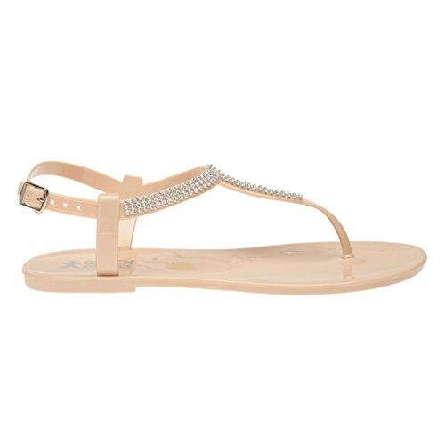 Beach Athletics Mujer Princess Toe Sandalias Verano Zapatillas Calzado Verano Desnudo 5 (38)