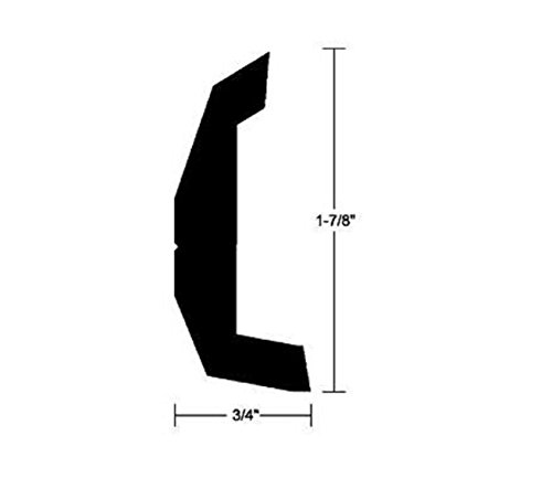 Taco Supply V213670BKA20D1 RIGID VINYL RUB RAIL 20'BLACK RIGID VINYL RUB (Taco Rigid Vinyl Rub Rail)