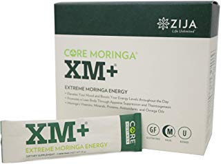Zija XM+ Pure Moringa Tree Leaf Natural Supplement | Instant Organic Powder for Extreme Energy and Weight Loss Drink | 32 Pouches