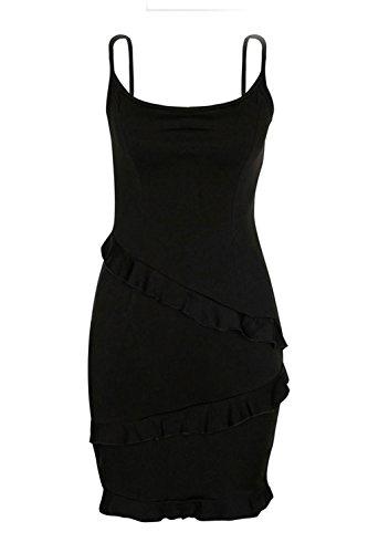 Le Prendisole Black Mini Donne Vestiti Scollato Estate Bodycon Eleganti Decorativo Calda Fasumava 4SFxqHWA4