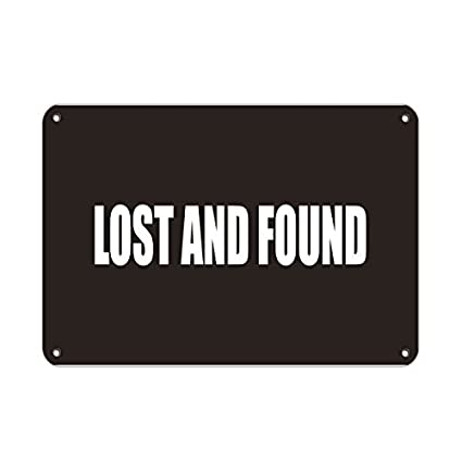 amazon com leiacikl22 aluminum metal sign lost and found business