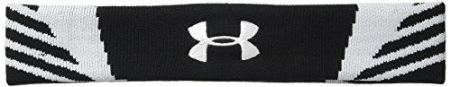 Under Armour Unisex Undeniable Jacquarded Headband, Black /White, One Size