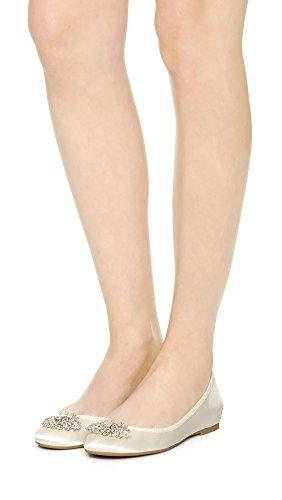 Mischka Ivory Ballet Women's Flat Badgley Abella FxYWCqdUwS