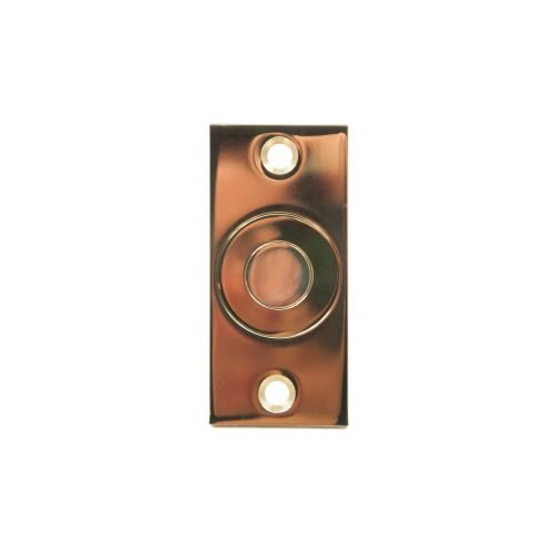 Ives DP2 Floor and/or Threshold Dust Proof Strike 1 5/8'' x 3 1/2'' Face Plate, Polished Brass by IVES