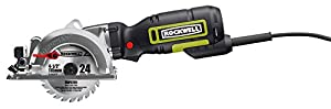 "Rockwell RK3441K 4-1/2"" Compact Circular Saw, 5 amps, 3500 rpm with Dust Port and Accessory Kit by Rockwell"