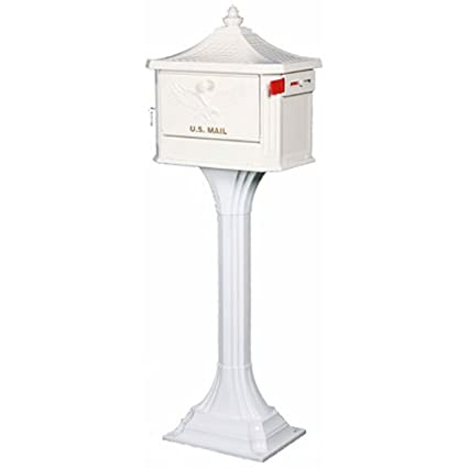 Solar Group PED0000W Large Cast Aluminum Pedestal Mailbox (White) SOLAR GROUP INC PEDW