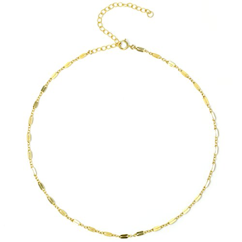 BENIQUE Dainty Choker Necklace, Simulated Freshwater Pearl Women Girls, 14K Gold Filled Find Chain, Black leather, Layered Set in Gold/Rose, Made in USA (Lace)