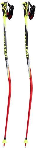 LEKI Erwachsene Skistock WC Racing - GS, Base Color: Neon Red/ Design: Neon Yellow-Black-Sil-White-Anthr, 125 cm, 634-6777