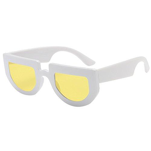 (AMOFINY Fashion Glasses Women Man Vintage Irregular Shape Sunglasses Eyewear Retro Unisex)