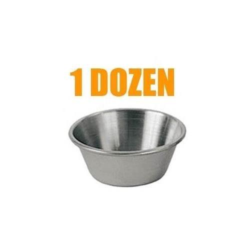 Update International SC-15 1.5 Oz. Stainless Steel Sauce Cup - Set of 6 Dozen